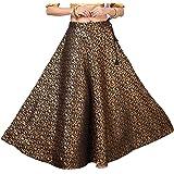 STUDIO Shringaar Women's Benaras Brocade Wedding Sangeet Skirt Lehenga Ghaghra (Free Size)