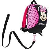 Disney Mochila Bebe Guarderia, Mochila Infantil de Mickey y Minnie Mouse, Mochila Guardería con Arnes Para Bebes