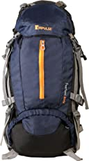 Impulse 65 Ltrs Blue Trekking Backpack (Inverse U Blue)