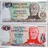 Novelty Collections- Set of 2 Argentina Currency Notes