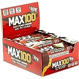 NPN MAX 100 Protein & Carb bar   Barretta proteica per lo sport, gusto premium   9x100g Caramello di arachidi gustoso