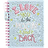 Amazon Brand - Solimo B5 Notebook, 80 GSM, 160 Pages (To the Moon & Back)