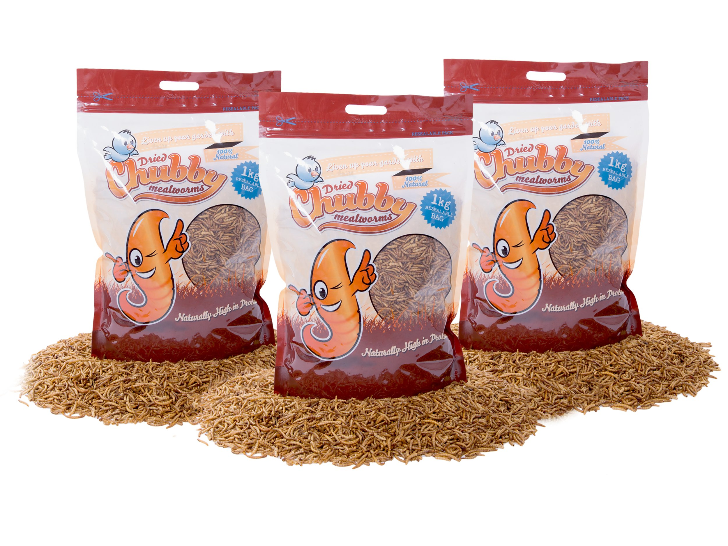 3Kg Chubby Dried Mealworms for Wild Birds Only
