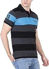 fanideaz Men's Striped Regular Fit Polo