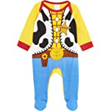Disney Toy Story Baby Grows, 100% Cotton Baby Clothes, Woody Costume for Baby Boy, Fun Toy Story Pyjamas, Long Sleeve…