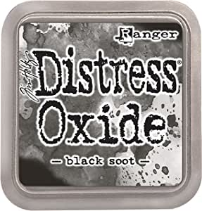 Ranger Tim Holtz Distress Oxide Pad, Synthetic Material, Soot Black, 7.5 x 7.5 x 1.9 cm
