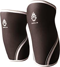 Burnlab Compression Knee Sleeve (1 Piece) for Weightlifting, Cross Training, Running, Squats or Walking