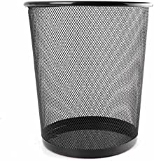 Tied Ribbons Metal Mesh Big Size Dustbin for Room for Kids (Black)