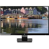 HP 27w Monitor, Schermo 27 Pollici IPS Full HD, Risoluzione 1920 x 1080, Micro-Edge, Antiriflesso, Tempo di Risposta 5 ms, Comandi sullo Schermo, HDMI e VGA, Reclinabile, Nero