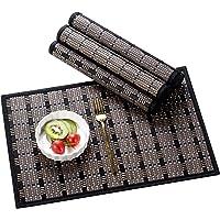 LOVECASA, Set de Table en Bambou 6 Pcs, Napperons Lavable Antidérapant, Tapis de Table