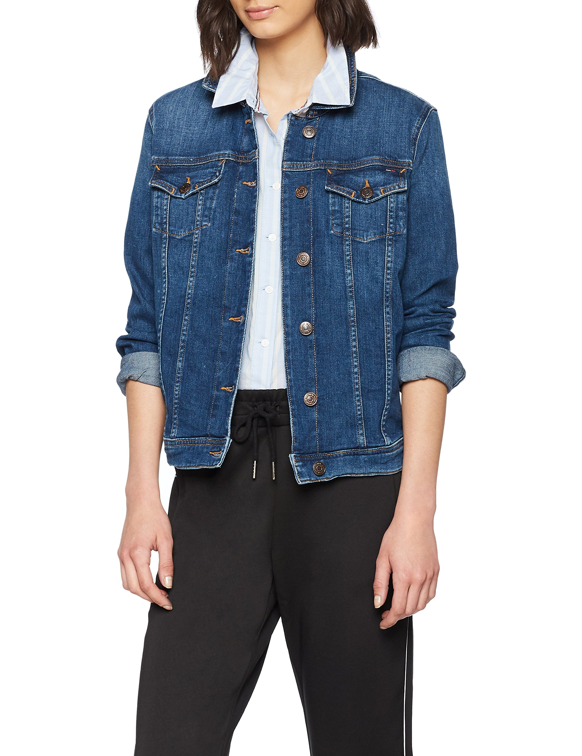timeless design 7f51f 86116 Tommy Jeans Damen VIVIANNE Langarm Denim Jacke | Der Jeans-Vip Shop
