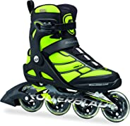 Rollerblade Inline Skates Macroblade 84, Fitness Skates, Black/Green, 45.5 Eu