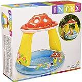 Intex 57114 - Piscina Baby Fungo, 102 x 89 cm, Blu/Rosso
