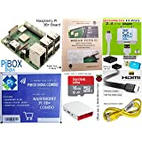 Raspberry Pi 3B+ / 3B Plus Motherboard Combo - PiBOX India Variation (PiBOX - Essential Combo Red/White 3215RW) - Now…