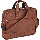 Storite Pu Leather 14 inch Laptop Messenger Sling Office Shoulder Travel Organizer Bag For Men & Women – (39 x 29 x 6 cm, Lig