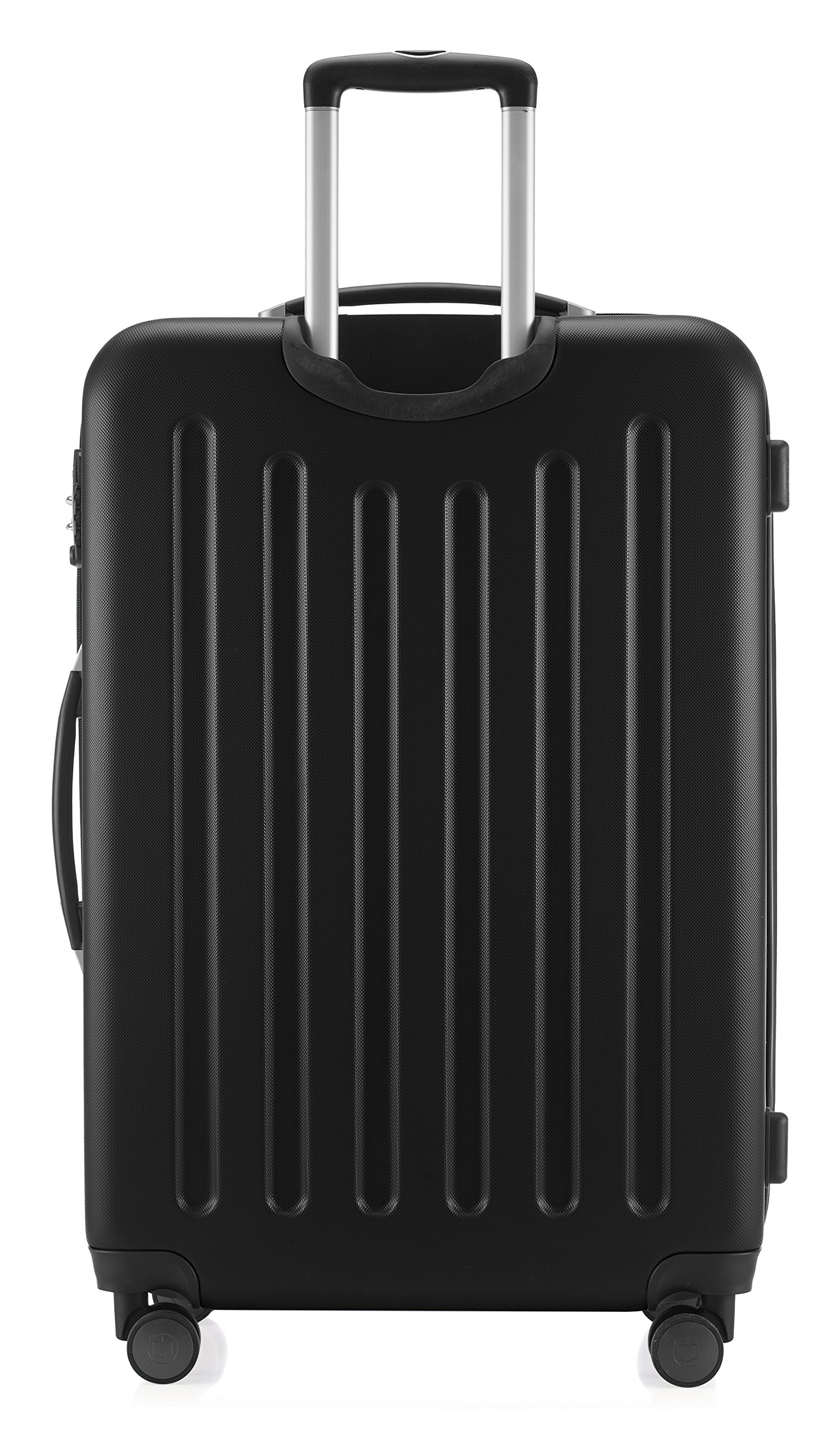 Hauptstadtkoffer-Spree-Hartschalen-Koffer-Koffer-Trolley-Rollkoffer-Reisekoffer-Erweiterbar-4-Rollen-TSA-75-cm-119-Liter-Schwarz