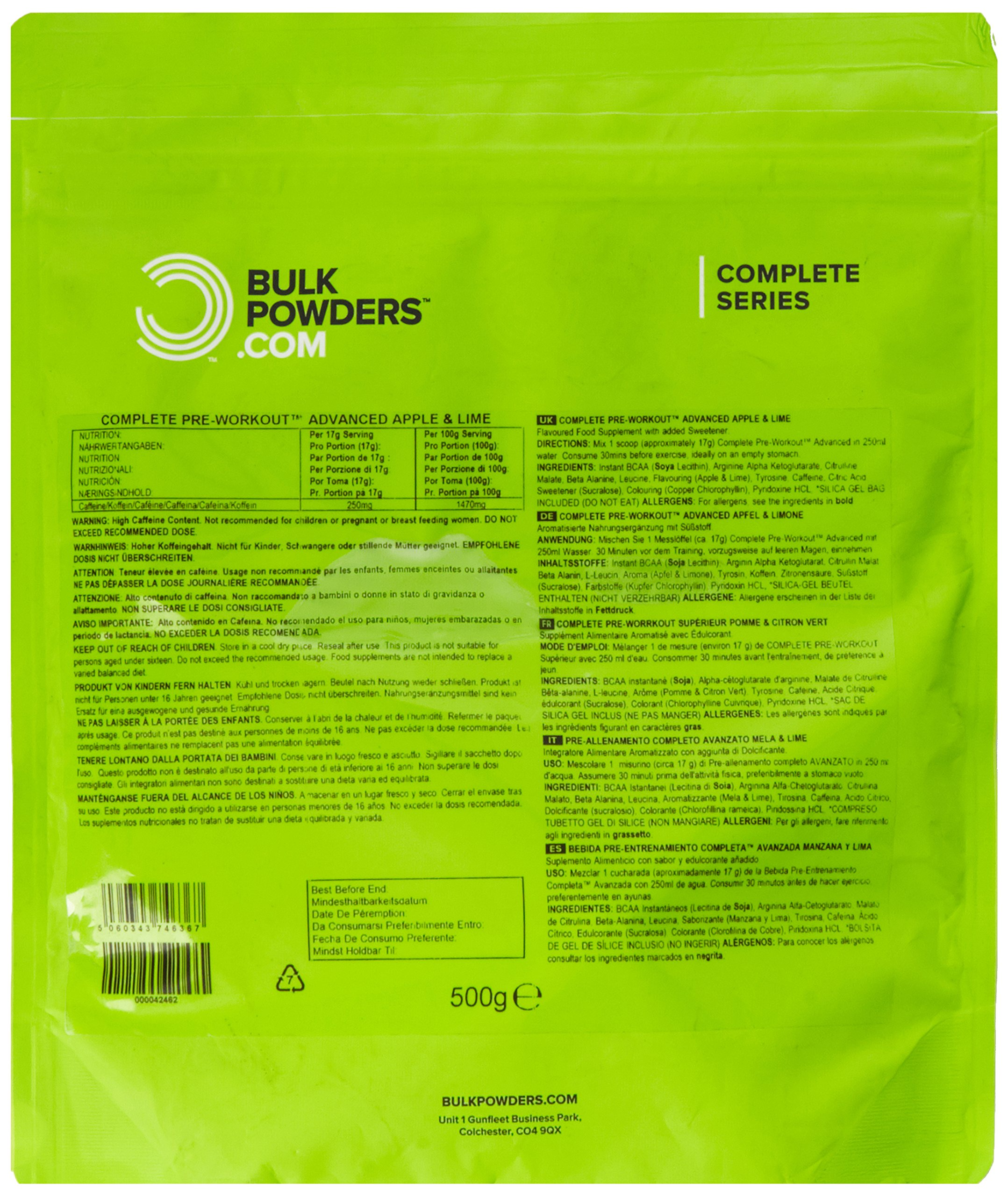 91hQLZVlTbL - BULK POWDERS Complete Pre Workout Advanced, Apple and Lime, 500 g