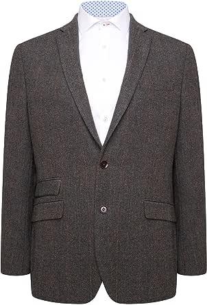 HARRY BROWN Men's Blazer Tailored Fit Wool Blend
