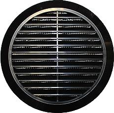 Lüftungsgitter Ø 100 110 120 125 150 mm rund schwarz Kunststoff T36 Insektennetz Abluftgitter Zuluft Abluft Gitter Lüftung