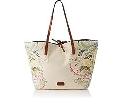 Desigual Womens Fabric Shopping Bag, White, U