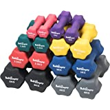 Bad Company Neopren Hanteln I Kurzhanteln für Aerobic, Gymnastik und Fitness I 2er Set 0,5kg bis 5kg I Diverse Sets 3kg bis 39kg