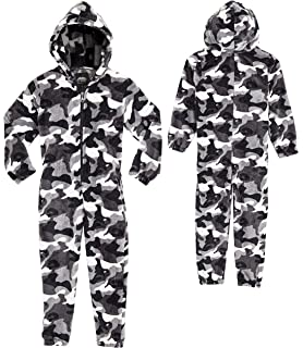 Fleece Zip Up for Boys Girls All in One Pyjamas CityComfort Camouflage