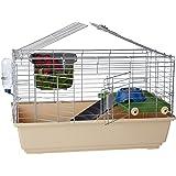 AmazonBasics Small cage habitat for rabbit, hamsters & small animals - 32 x 22 x 18 Inches, Standard