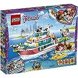 LEGO41381FriendsRescueMissionBoatandLegoIslandToyforKidswithOlivia,AndreaandMiaMiniDolls,plusRobotandWh