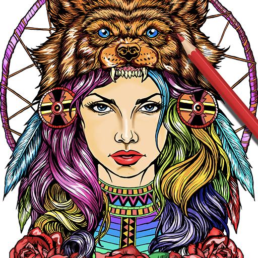 ColorArt: Masterpiece Coloring Page for Grown-Ups: Amazon.de ...