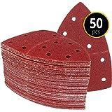 Prio-schuurdriehoeken, 50 stuks, 11-gaten, 105 x 152 mm, korrel 60, voor multischuurmachines, schuurbladen, driehoekige schuu