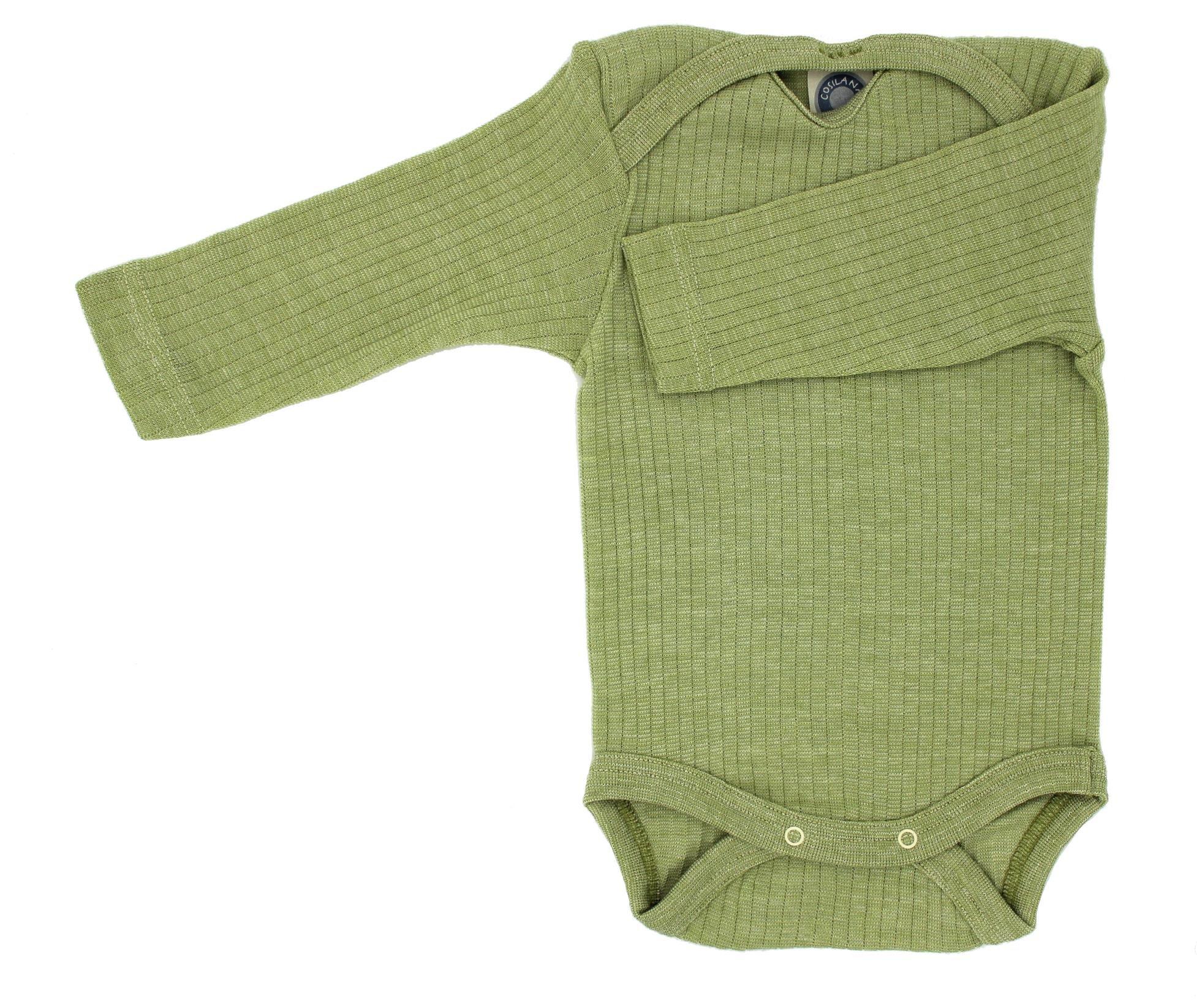 Cosi lana baby Body WOLL Body® especial calidad 45%, algodón orgánico, 35% KBT lana, 20% seda
