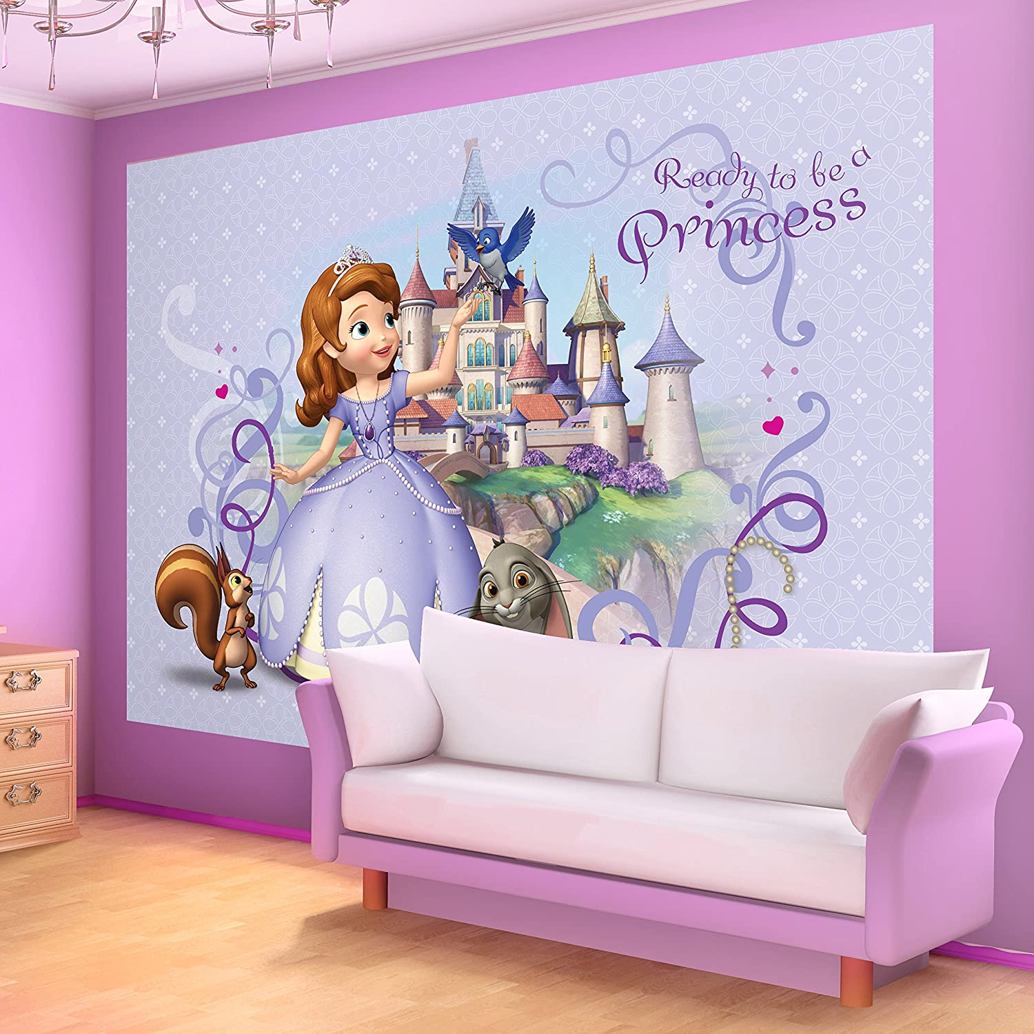 Disney sofia the first wallpaper mural amazon diy tools amipublicfo Images
