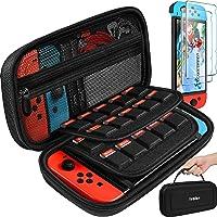 iVoler Custodia per Nintendo Switch e [2 Pack] Pellicola Vetro Temperato, Portatile Protettiva Case Rigido da Viaggio…