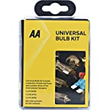 AA Compact Universal Car Bulb/Fuse Kit AA0552 - Includes Popular Halogen Bulbs H1 (448) H4 (472) H7 (499) - Suitable for…