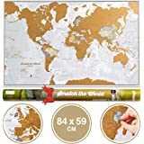 Scratch the World® Travel Map - Scratch Off World Map Poster with Gift Tube - X-Large - 84 x 59 cm - Maps International - 50 years + of Map Making