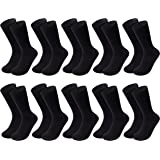 DarkCom Men's Dress Socks 6-12 Pairs Cotton Socks Classic Calf Socks