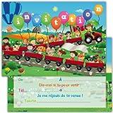 Biglietti di invito per compleanno, feste, inviti in francese, 12 pezzi