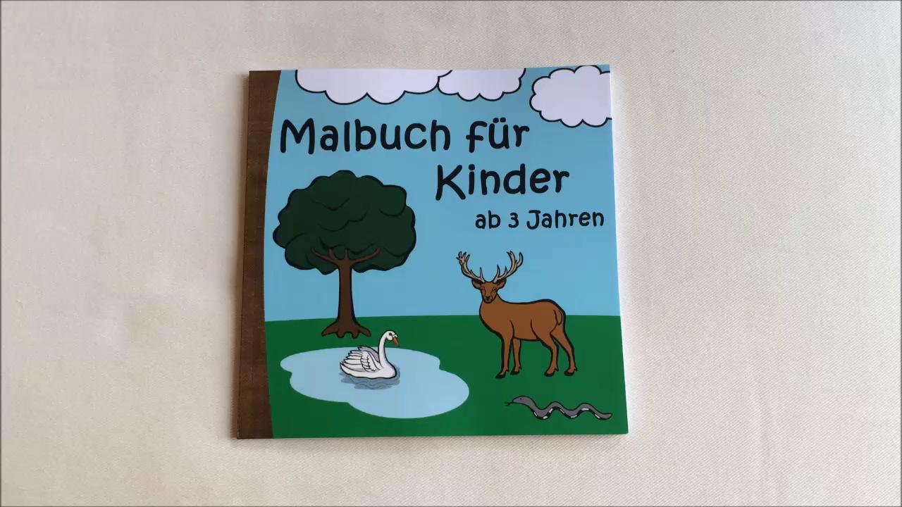 Malbuch für Kinder ab 3 Jahren: Ausmalbilder für Mädchen und Jungs ...