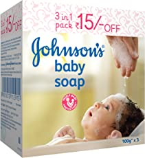 Johnson's Baby Soap 100g (Pack of 3)