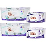 Himalaya Gentle Baby Wipes 72x2 and Soothing Baby Wipes 12x2 (White)