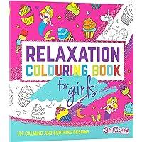 GirlZone Cadeau Fille - Livre De Coloriage - Zen, Relaxation - 114 Jolies Illustrations - Coloriage Enfant, Filles…