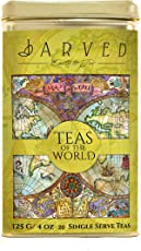 Jarved Teas of The World Assorted Gift Box Set - 20 Types of Tea from 10 Countries| 20 Loose Leaf Teas in Recyclable Tin Box| Unique Gift for Men, Women, Anniversary, Birthday, Office