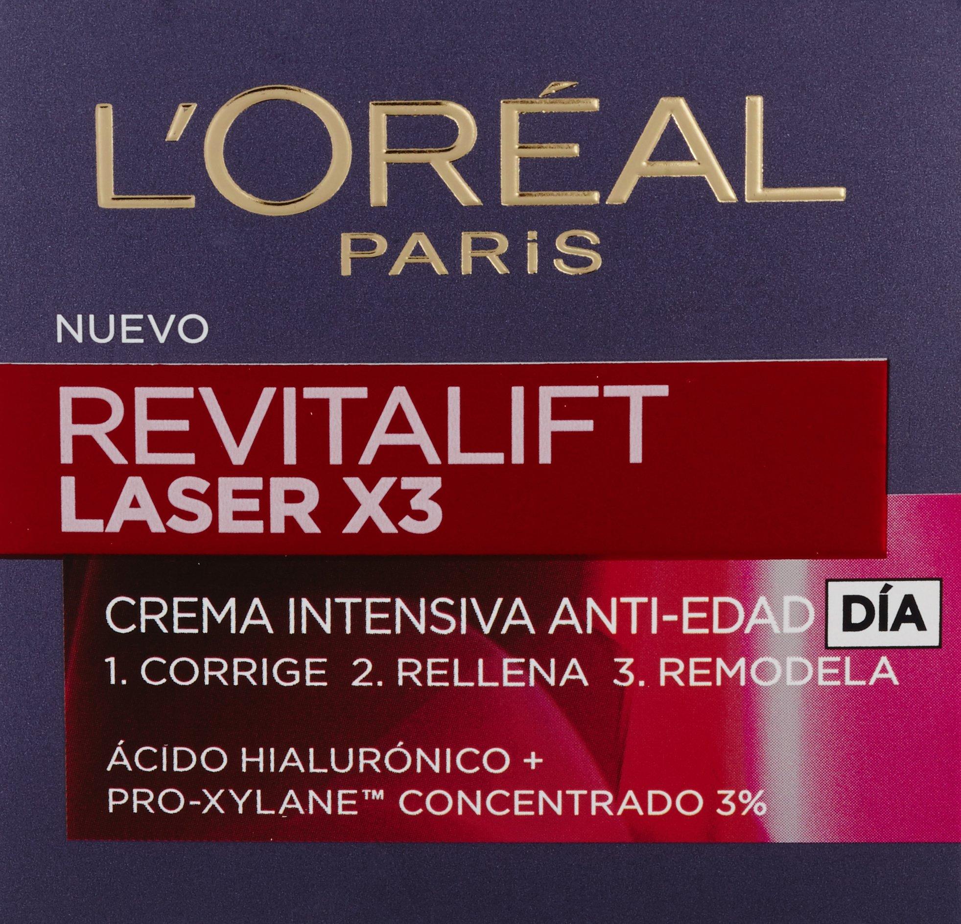 L'Oreal Paris Revitalift Láser x3 Crema de Día Intensiva Anti-Edad – 50 ml