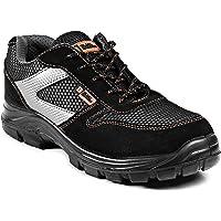Black Hammer Mens Safety Trainers Non Metal Free S1P SRC Ultra Lightweight Composite Toe Cap Kevlar Midsole Non Metallic…