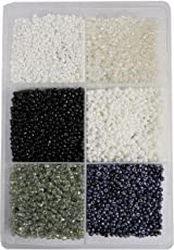eshoppee 3mm (8/0) 300 gm Glass Beads, Seed Beads for Jewelry Making Art and Craft DIY Project kit