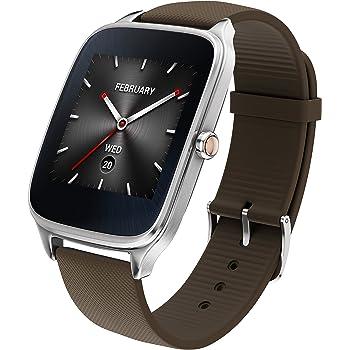 "Asus WI501Q(BQC)-1RTUP0011 - Smartwatch de 1.63"" (Qualcomm Snapdragon, 512 MB RAM, 4 GB eMMC, Bluetooth, WiFi, Android Wear, Acero Inoxidable), Marrón-Gris Oscuro"
