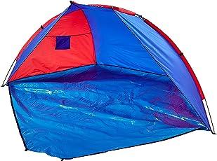 Relaxdays Strandmuschel verschließbar, HxBxT: 120 x 270 x 120 cm, mit Tasche, UV 80, Strandzelt, verschiedene Farben