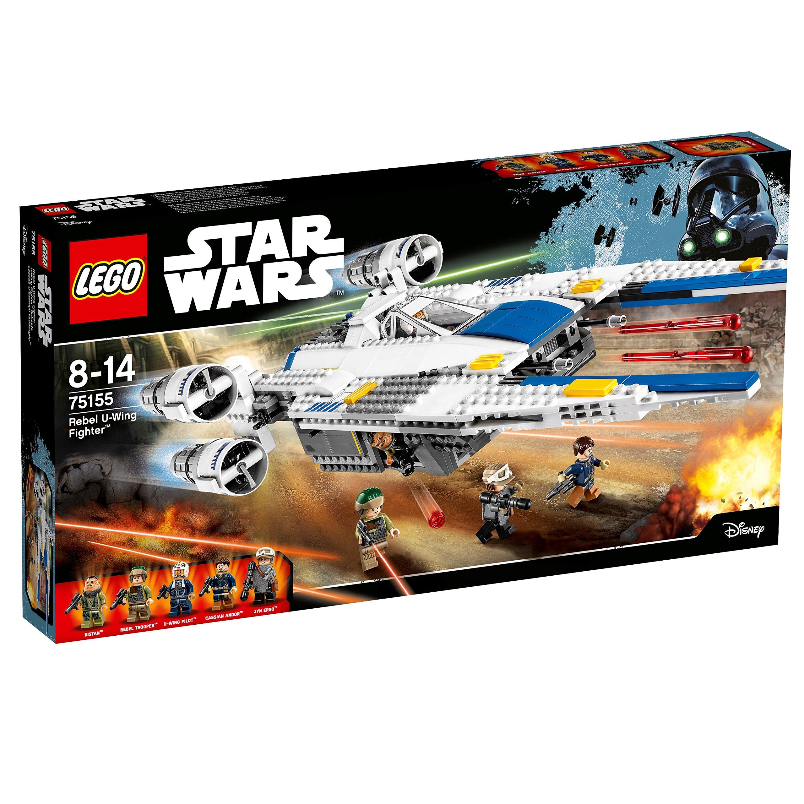 LEGO Star Wars – Figura Rebel U-Wing Fighter, Nave de Juguete para Construir Basado en la Saga de la Guerra de las Galaxias (75155)
