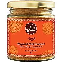 Clave Organic India | Kasturi Manjal Powder | Wild Turmeric Powder | Wayanad Rare Variety | Pale Brown Colour |100% Vegan | No Chemicals - 90g (Pack of 1)