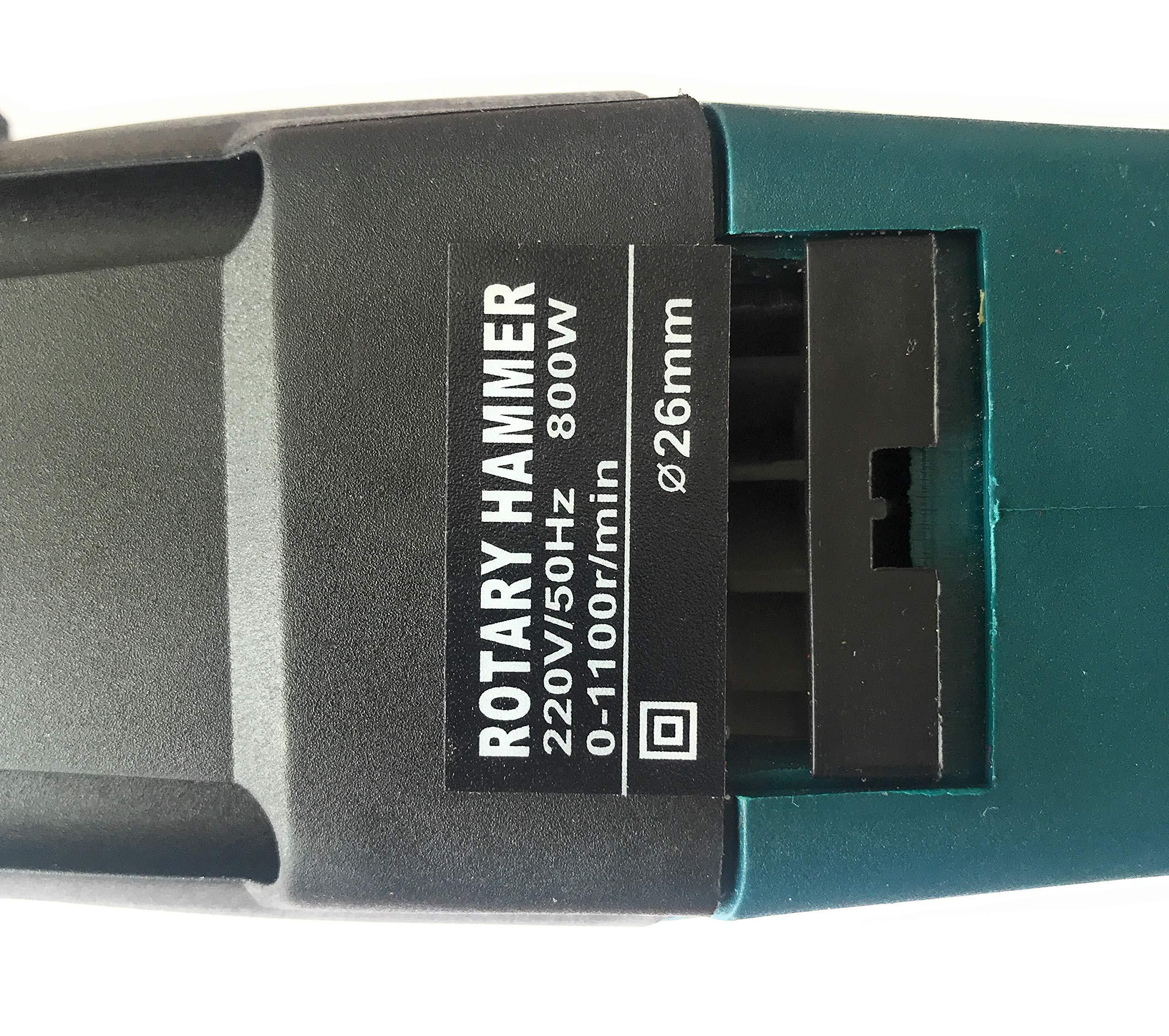 Taladro – Martillo Percutor Ligero Ronix SDS-PLUS, 800w. Hasta broca de 26mm, Electronico de 0-1100rpm, Reversible, 3 Julios de potencia de impacto. 3 modos de trabajo